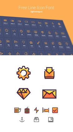 Lightwing Free Line Icon Set Icons Graphic Design Vector Free Resource TTF Icon EOT SVG WOFF Web Font AI Outline Flat