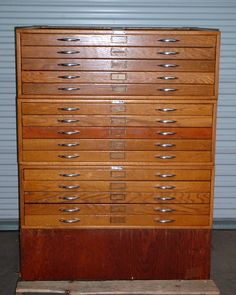Amish 5 drawer blueprint drafting file cabinet flat file cabinet mayline company 15 drawer wooden mapfile map drafting file cabinet blueprint ebay malvernweather Choice Image