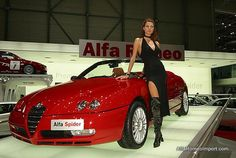 Alfa Romeo Spider. The car is available at www.alfaromeoimport.com the girl is not. Sorry