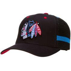 Chicago Blackhawks Blue and Black Chicago Flag-Themed Trucker Hat by Zephyr #Chicago #ChicagoFlag #ChicagoBlackhawks #Blackhawks