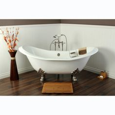 Double Slipper Cast Iron 72-inch Clawfoot Bathtub - Overstock™ Shopping - Big Discounts on Claw Foot Tubs