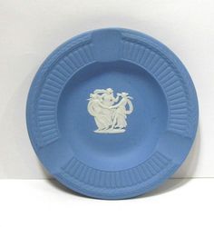 Wedgwood Blue Jasperware Ashtray #Wedgwood