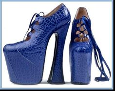 Platform Shoes in Electric Blue!