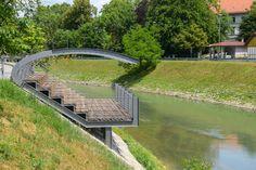 BB ARHITEKTI · Pavilion on the riverbank of Ljubljanica river · Divisare