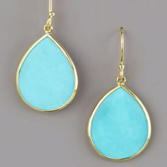 Love turquoise...just got a pair like these!