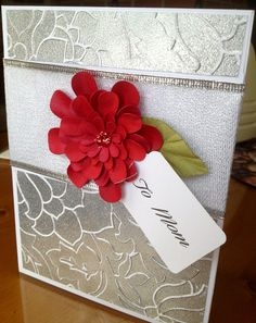 mothers day homemade cards | Handmade Card Mother's Day Card Red by HandMadeCardsBySheri