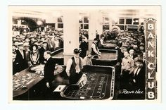 VINTAGE RENO NEVADA BANK CLUB CASINO FLOOR PHOTO POSTCARD