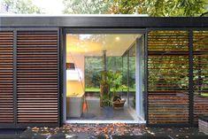 Wil Bongers Architectuur - Projecten - Aanbouw Uitbouw Tuinkamer glas staal hout Shutters, Villa, House Design, Patio, Windows, Curtains, Inspiration, Furniture, Google