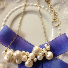 Pearly pearly pearly necklace by lilyca アクセサリー ネックレス