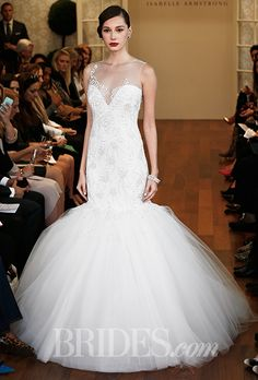 Isabelle Armstrong - Fall 2015 - Carmella Illusion Sweetheart Neckline Mermaid Embellished Wedding Dress | Wedding Dresses Photos | Brides.com