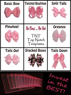 The best templates for making hair bows!  I will replace the ones I lost in the fire very soon.  I've been itching to make Keira some new hair pretties!