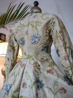 1750-1760 Ladys Silk Jacket antique dress antique gown