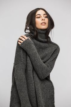 bdea2a727c9612 Oversize Chunky knit sweater for women. Oversize Grobstrick Pullover ...