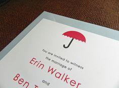 Umbrella Wedding Invitation
