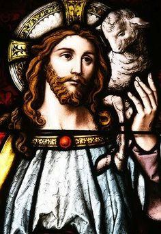 "Mythology of the ""Good Shepherd"" Stained Glass Church, Stained Glass Art, Stained Glass Windows, Christian Artwork, Christian Love, Church Windows, The Good Shepherd, Graphic Artwork, Religious Art"