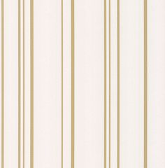 Pulse Stripe by Albany - White and Gold - Wallpaper : Wallpaper Direct Cream And Gold Wallpaper, Gold Striped Wallpaper, Gold Wallpaper Living Room, Stripped Wallpaper, Gold Wallpaper Designs, Designer Wallpaper, Striped Room, Contemporary Wallpaper, White Strips