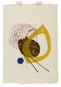 """Yoshida Chizuko,  Untitled, 1955, 16.5"""" x 11.5"""""""