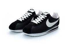 best service 10200 8a4c6 Nike Classic Cortez Nylon Black White Black And White Cortez, Nike Cortez  Shoes, Nike