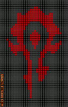 Alpha Friendship Bracelet Pattern #3771 - BraceletBook.com