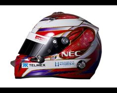 The drivers helmet of Kamui Kobayashi of Japan and Sauber F1 is seen during day four of Formula One winter testing at the Circuit de Catalunya on March 4, 2012 in Barcelona, Spain.