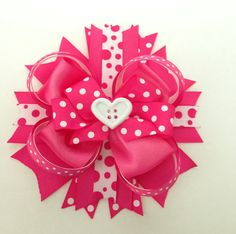 Big Diva Hot Pink Valentines Day Hair Bow/ Hair Bows/ Hot Pink Hair Bows/ Valentines Day/ Big Hair Bows/ Baby Accessories/ Pink Bows on Etsy, $7.50