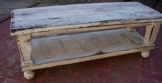 Wood Coffee Table - Reclaimed Wooden - Shabby, Handmade - Country Cottage - Antique White, via Etsy.