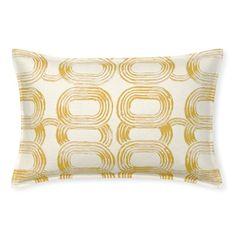Printed Rings Lumbar Pillow Cover, Yellow #williamssonoma