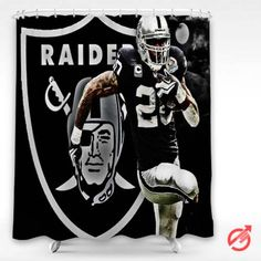 NFL Oakland Raiders Football Nfl Shower Curtain Showercurtain Decorative Bathroom Creative Homedecor Decor Present Giftidea Birthday Men