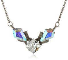 """Sorrelli """"Dixie"""" Petite Pointed Crystal Silver-Tone Necklace"""