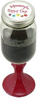 Redneck Wine Glass- 16oz - Mommy's Sippy Cup by 95 & Sunny. $23.99. Could fill with jam, wine, or anything a mason jar can hold.. 16 oz. redneck wine glass.. Glass mason jar with painted screw on lid.. Redneck Wine Glasses 16oz -Mommy's Sippy Cup - This hilarious wine glass is the perfect gift! Made of glass, it is a mason jar turned wine glass with a stem.