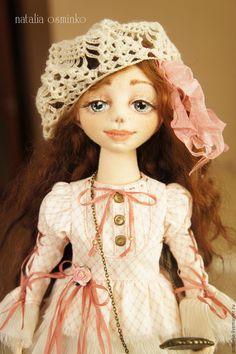 Купить Алиса. Текстильная подвижная кукла. Авторская кукла. Бохо - бежевый, авторская кукла