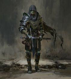 """""""Penitent Knight"""" by Russell Dongjun Lu : Fantasy Fantasy Character Design, Character Design Inspiration, Character Art, Inspiration Drawing, Fantasy Inspiration, Fantasy Armor, Medieval Fantasy, High Fantasy, Dark Fantasy Art"""
