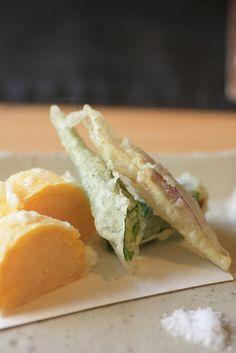 Summer Tempura with Corn, Okra (Lady Finger) and Japanese Myoga Ginger|夏野菜の天ぷら