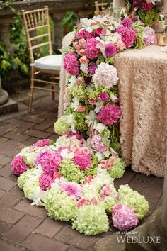 The Secret Garden | We're in total awe of the floral displays created by The Flower Factory| Photography by: Vasia Weddings