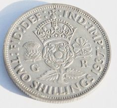 Rare Silver Coin 1937 Great Britain Florin, Two Shillings, Excellent Coin, Fine Details Visible  http://www.amazon.com/gp/product/B00K099Y12/?tag=p1nt-20