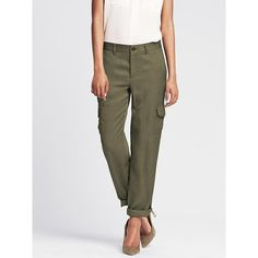 Banana Republic Womens Heritage Roll Up Cargo Pant Size 6 Short -... (90 CAD) ❤ liked on Polyvore
