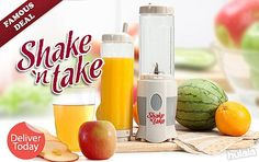 EVEN LOWER PRICE! READY STOCK! Deliver Today! Tasty Beverages with Shake N Take Mini Blender + Extra Bottle! FREE Peninsular Delivery.   Shop Now >> http://www.hulala.com.my/deal/shake-n-take-102-3