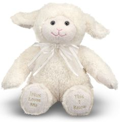Easter Gifts for Baby / Toddler:  Melissa & Doug Jesus Loves Me Lamb @ Amazon