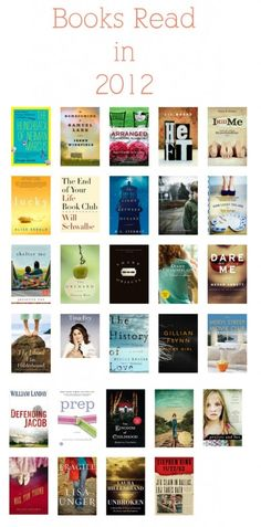 The books I read in 2012 plus my Top 6 favorite reads of the year!