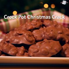 Crock Pot Christmas Crack is an easy homemade candy recipe everyone should make for the holidays! It makes over 100 pieces of candy so it makes for an easy and delicious homemade gift. Get the crock pot candy recipe on Just A Pinch #crockpot #crockpotcandy #christmascrack #christmascandy #candyrecipe #candy #chocolate #slowcooker #crockpotrecipe #slowcookerrecipe #christmasdessert #christmasgift #giftrecipe Crockpot Christmas Crack, Christmas Candy, Christmas Chocolate, Christmas Snacks, Xmas, Christmas Baking, Baking Videos, Food Videos, Recipe Videos