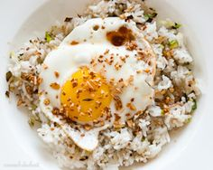 My new obsession, fried rice with an over easy egg.  And if you're looking for a new rice seasoning, furikake is AMAZING.