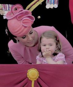 Kate Middleton et Princess Charlotte (Trooping the Color 2017)