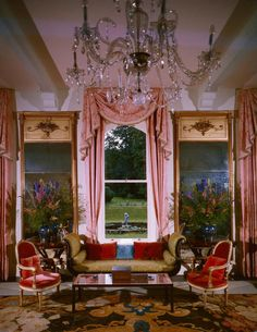 Elizabeth Arden's Barretstown Castle. Decorated by Tony Duquette c.1962