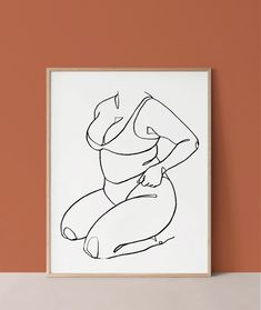 Body Positive Female Figure Line Art I noticed that there are not a lot of products here that promote body positivity and feature women with different body Outline Art, Outline Drawings, Art Drawings Sketches, Positive Art, Body Positive, Body Image Art, Small Canvas Art, Arte Sketchbook, Abstract Line Art