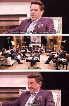 Robert Downey Jr. & Bennydoodle Cumberstack in playing Sherlock