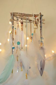 Customized Made To Order Dreamcatcher Mobile by TheBigSkyPlace, $74.00