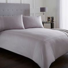 J by Jasper Conran Lilac frame bedding set-   Debenhams