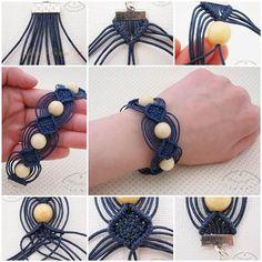 DIY Jewelry : DIY Unique Macrame Beaded Bracelet