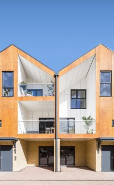 Woodview Mews is a minimalist residential complex located in London, England, designed by Geraghty Taylor Architects