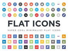 Flat Icons EPS and AI By Jorge Calvo on Dribbble